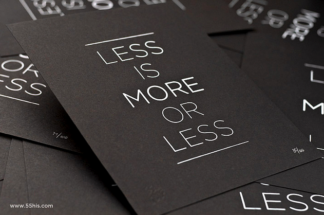 Less is More is Less